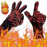 Grillhandschuhe Hitzebeständig Hitzeschutz Handschuhe Premium Feuer Gloves Grillzubehör