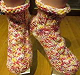 SOFORT LIEFERBAR !!! SUPERDICKE Handgestrickte Damensocken selbstgestrickte Socken Sofasocken gestrickte Bettschuhe Bettsocken