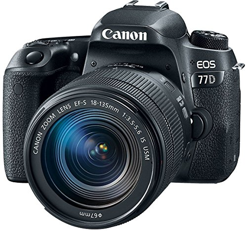 Canon EOS 77D 24.2MP Digital SLR Camera + EF-S 18-135...