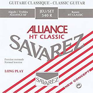 Savarez 540R String Set Alliance HT Classic for Classic Guitar standard tension (red)