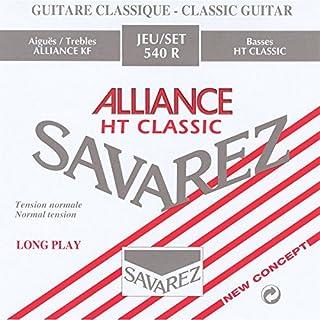 Savarez Saiten für Klassikgitarre Alliance HT Classic 540R Satz Standard Tension rot
