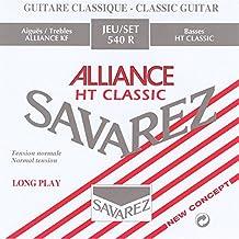 Savarez 655917 - Cuerdas para Guitarra Clásica Alliance HT Classic 540R Juego Tensión estandard, rojo