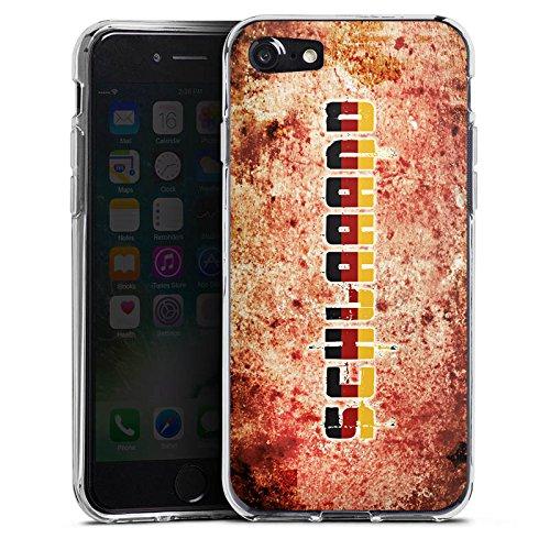 Apple iPhone X Silikon Hülle Case Schutzhülle Deutschland Fußball Germany Silikon Case transparent