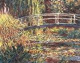 Stampa su Tela Canvas Monet, Lo stagno delle Ninfee, Armonia Rosa (1900) 50x70cm Senza Telaio