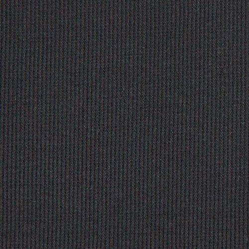 Fabulous Fabrics Strickbündchen 2 schwarz - Meterware ab 0,5m - zum Nähen von Kleider, Tops und Sweatshirts -