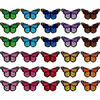 Butterfly Patches Embroidered Badge Iron and Sew Patch Applique for DIY Decor T-Shirt Jacket Shoes Bags Repair Patch