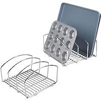 mDesign égouttoir vaisselle (lot de 2) – joli séchoir vaisselle avec 3 compartiments pour une cuisine plus ordonnée…