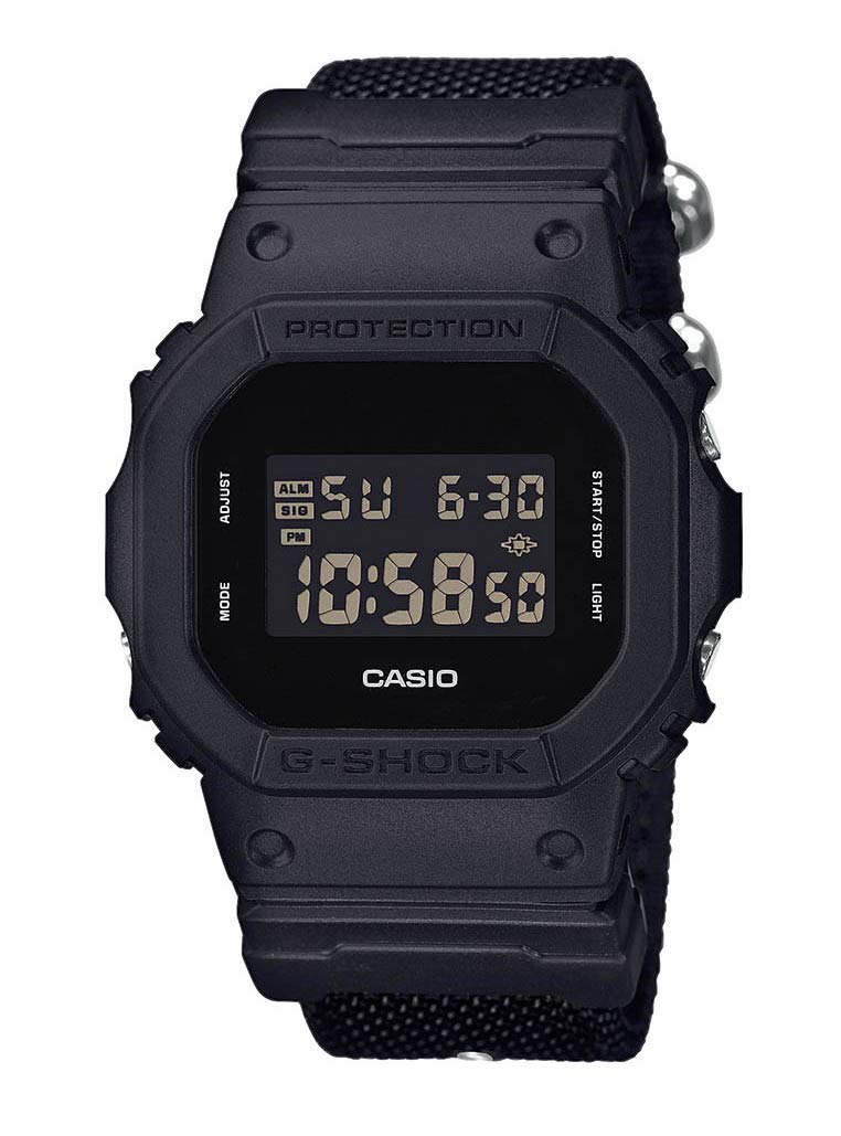 Casio G-Shock Women's Watch in Resin/Nylon with LCD Display and Multi Alarm for Extreme Sports – Shock Resistant