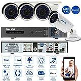 OWSOO CCTV Überwachung DVR Security System HDMI P2P Cloud Onvif Netzwerk Digital Video Recorder + 4 * 720P Outdoor/Indoor Infrarot-Bullet-Kamera + 4 * 60ft Kabel