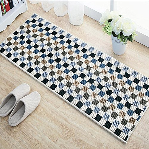 E Support™ Non-Slip Kitchen Mat Mosaic Carpet Indoor/Outdoor Floor Mat for Living Room Bedroom Kitchen Solid Home Decorative