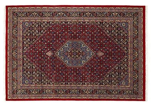 BADOHI BIDJAR echter klassischer Orientteppich handgeknüpft in rot-blau, Größe: 250x300 cm -