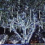 Meteor Light TAOtTAO Partei-LED 1Pc beleuchtet Meteorschauer-Regen-Schneefall-Weihnachtsbaum-Garten im Freien (Weiß)
