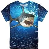 Showudesigns Camiseta de manga corta con cuello redondo para niños y niñas, camiseta de 3 a 16 años