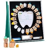 Boîte à dents de bébé en bois avec pince à épiler - Pour conserver les dents de bébé - Pour garçon et fille
