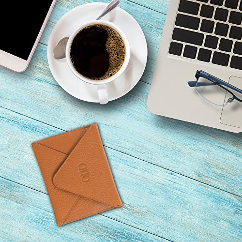 Portafoglio con spazio per carte in pelle e busta per il viaggio OTTO con fibbia magnetica - Porta carte di credito con scanalature multiple per soldi, carta di identità, biglietti (Rosa) Marrone chiaro