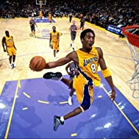 Baloncesto de la NBA Super Star Kobe Bryant agradable tela de seda paño de pared Póster de Impresión (24x 24pulgadas)
