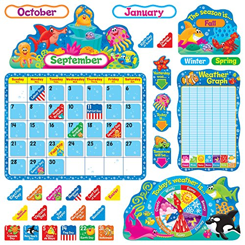 Trend Enterprises TEP8306 Sea Buddies Kalender Bulletin Board Set