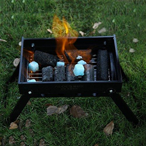 Barbecue à Charbon en Acier Inoxydable- BBQ Grill Portable Extérieur pour Camping et Pique Nique