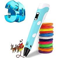 Penna a stampa 3D intelligente, con filamento di 12 colori, compatibile con PLA e ABS, display LCD, ideale come regalo…