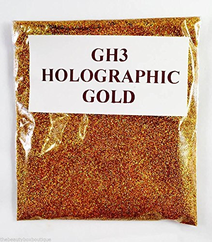 (GH3 - Holographic Gold 10g) Cosmetic Glitter Glitter Eyes Glitter Tattoo Glitter Lips Face And Body Bath Bombs Soap