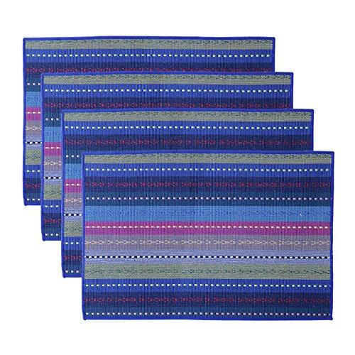 Mogoko - tovaglietta all'americana in tessuto, prodotto antiscivolo e termoprotettivo - set da cucina -set da 4tovagliette 45,7x 30,5cm blue