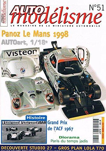 Auto Modelisme N°51 oct 2000: Panoz le mans 1998 par collectif