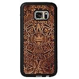SMARTWOODS Aztec Calendar Dark Schützhülle für SAMSUNG S7, Holzcase für Smartphone, Handyhülle, Schutzhülle aus Holz für Smartphone, ökologisch, naturnah und original