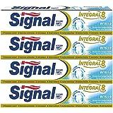 Signal Dentifrice Integral 8 White 75ml - Lot de 4