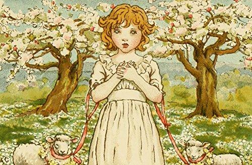 kate-greenaway-an-april-babys-book-of-tunes-1900-gentle-jesus-meek-and-mild-artistica-di-stampa-4572