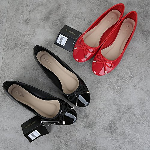 &qq Bouche peu profonde ronde, chaussures de ballet d'arc, chaussures chaussures plates 37