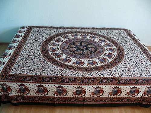 Orientalische Tagesdecke Bettüberwurf Sofaüberwurf Überwurf Plaid Indien (Marokkanische Sofa Decke)