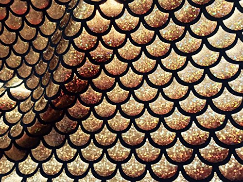 Kostüm Regenbogen Der Fisch - Meerjungfrau-Jerseystoff, mit Fischschwanz-Muster-Elastan-2-Wege-Stretch-Material-150cm breit-7 Farben (Meterware)