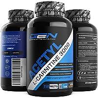 Preisvergleich für Acetyl L-Carnitin 3000-250 Tabletten - 3000 mg pro Tagesportion - Extra Stark - 100% Acetyl L-Carnitine - Stärkste...