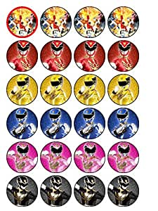 24 Power Rangers Megaforce Wafer Paper Cupcake Toppers ...