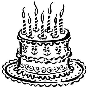 Tampon en bois Gâteau d'anniversaire - PSX