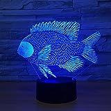 Cambio di colore della tilapia Carpa africana con pesce lampada che carica il pulsante a sfioramento lampada da tavolo regalo decorativo per bambini sorprendente