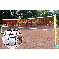 tragbares Sport-Badmintonnetz aus Polypropylenfasern mit Befestigungsseil f/ür den Wettbewerb Keenso Outdoor Sports Badmintonnetz