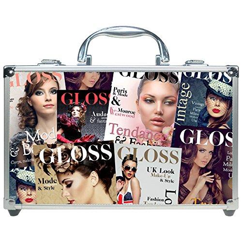 Gloss! Beauty Tendance Color - Maleta de maquillaje, 61 piezas, color marrón