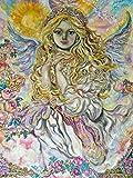 Artland Qualitätsbilder I Bild auf Leinwand Leinwandbilder Wandbilder 45 x 60 cm Fantasy Mythologie Religion Malerei Gelb D1LP Erzengel Raphael