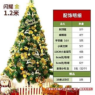 WZR Árbol De Navidad Artificial De Pino,120cm 1000 Ramas Aguja De Pino Árbol De Navidad con Plegable Soporte En Metal Y Adornos