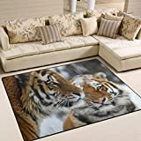ingbags Super Weich Moderner Tiger, ein Wohnzimmer Teppiche Teppich Schlafzimmer Teppich für Kinder Play massiv Home Decorator Boden Teppich und Teppiche 160x 121,9cm, multi, 80 x 58 Inch