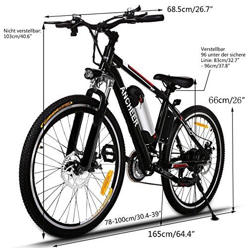 Ancheer Elektrofahrrad 26 Zoll Mountainbike - 2
