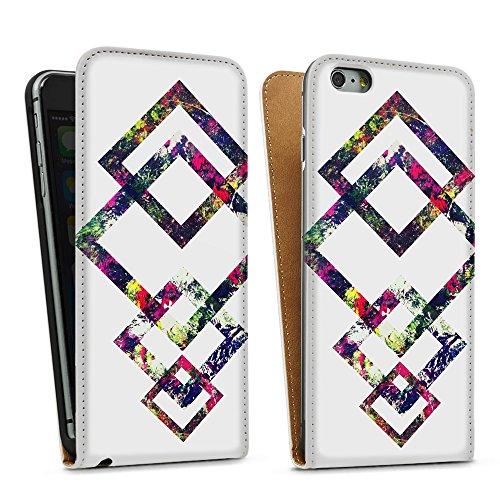 """artboxONE Handyhülle Apple iPhone 6, weiß Silikon-Case Handyhülle """"Coloured Geo Case"""" - Geometrie - Smartphone Silikon Case mit Kunstdruck hochwertiges Handycover von Mia Nissen Downflip Case weiß"""