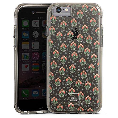 Apple iPhone 6s Plus Bumper Hülle Bumper Case Glitzer Hülle Tigerlily ohne Hintergrund Steinrohner Blumen Bumper Case transparent grau