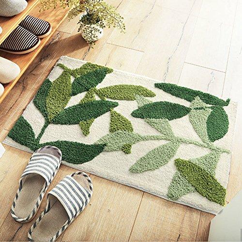 Aik@@ non slip poliestere zerbini,assorbente durevole tappeto facile da pulire stuoia esterna moderna tappeti tappeto d'ingresso bagno-f 50x80cm(20x31inch)