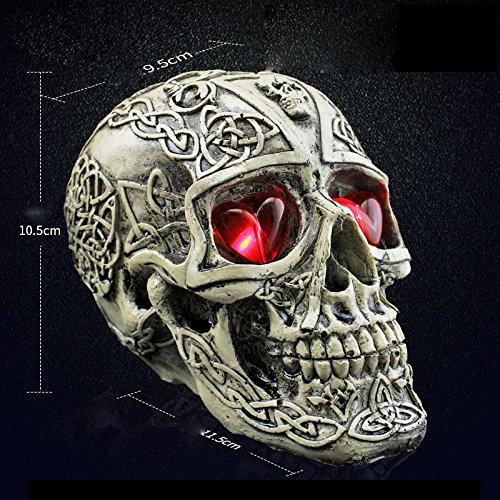 Tutoy Halloween Human Prop Harz Schädel Led Nachtlichter Dekorative Neuheit Pranksters Halloween Supplies-1