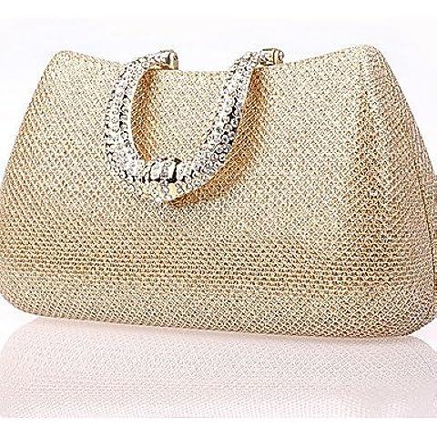 Da Wu Jia señoras bolso de lujo de alta calidad mujer bolso de mano// Blingbling Evento/fiesta / boda embrague / Bolsa de noche , golden