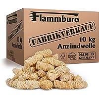 FLAMMBURO (10 kg) Öko-Anzündwolle direkt vom Hersteller, Holzwolle, zertifizierter Holz-Ursprung, FSC®-zertifiziertes…