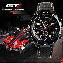 Needle Quartz Watch Sport GT Racing Man and Child Silicone
