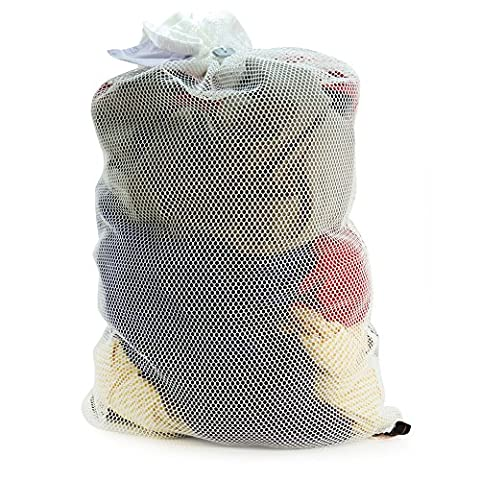 Hangerworld Polyester High Temperature Safe in Washing Machine or Tumble Dryer Professional Mesh Net Laundry Washing Bag, White